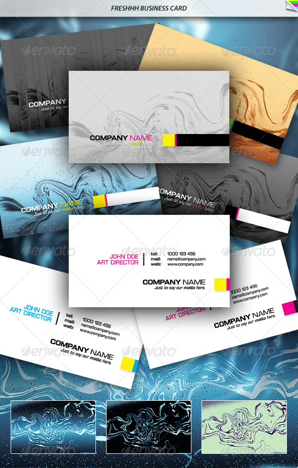 Freshhh Business Card - Creative Business Cards