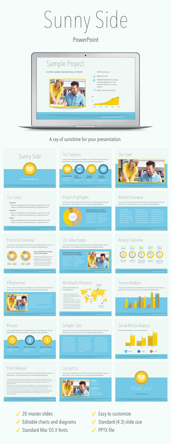 Sunny Side PowerPoint Template  - Abstract PowerPoint Templates