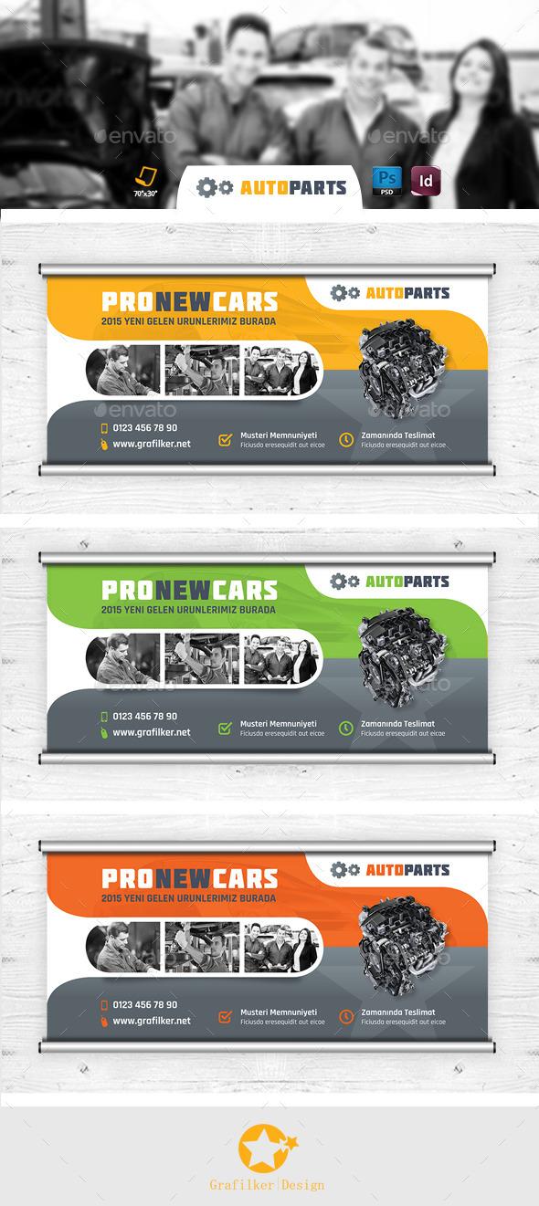 Automobile Service Billboard Templates - Signage Print Templates