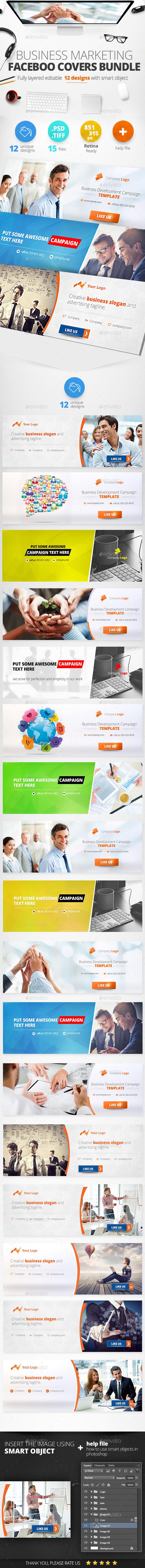 Corporate Facebook Covers Bundle 12 Designs