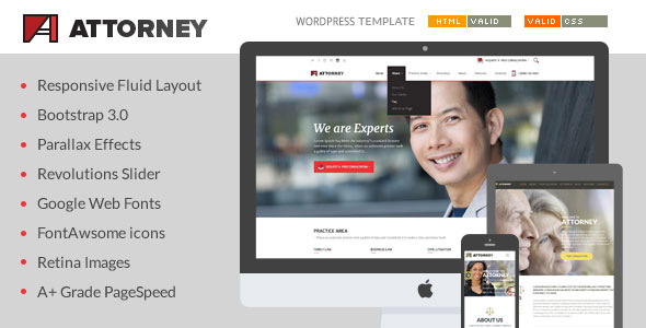 Attorney – Lawyer & Attorney WordPress Theme