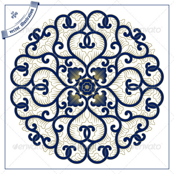 Asia Circle Lace Pattern - Patterns Decorative