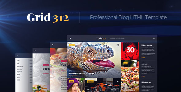 Grid312 - Professional Blog HTML Template - Personal Site Templates