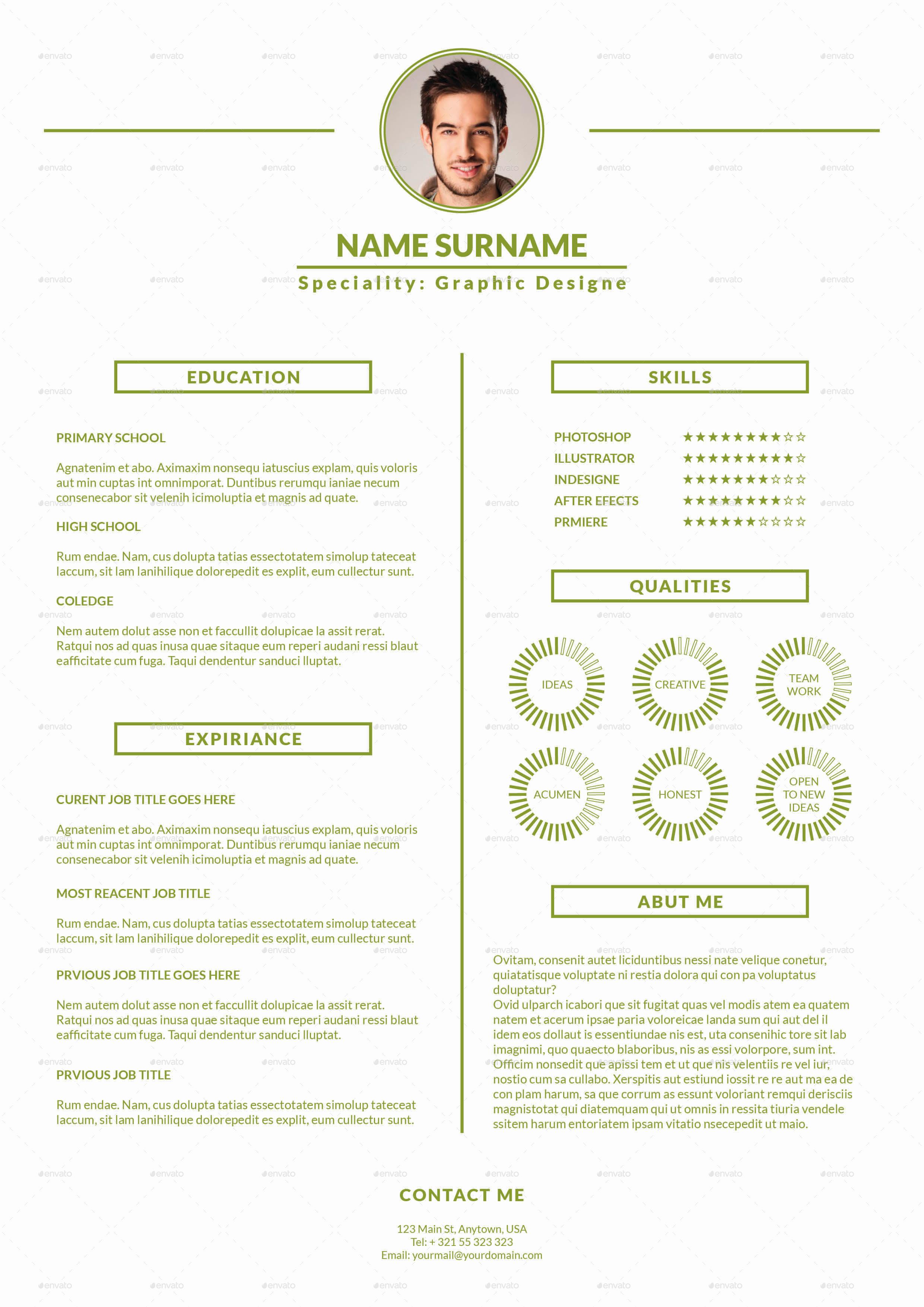 minimalistic cv resume template by milos83 graphicriver