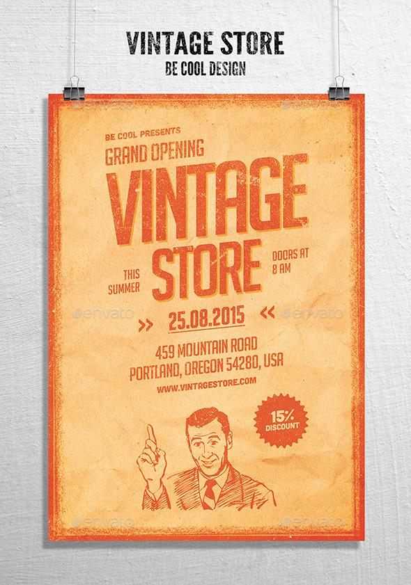 Vintage Store Flyer Poster