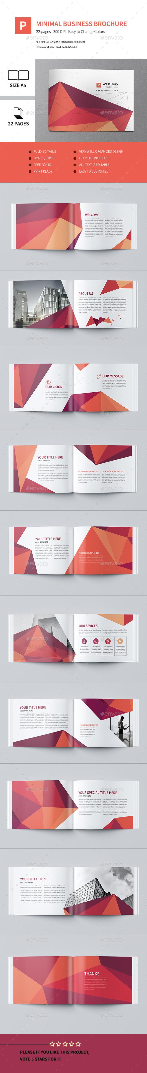 Minimal Business Brochure III - Corporate Brochures
