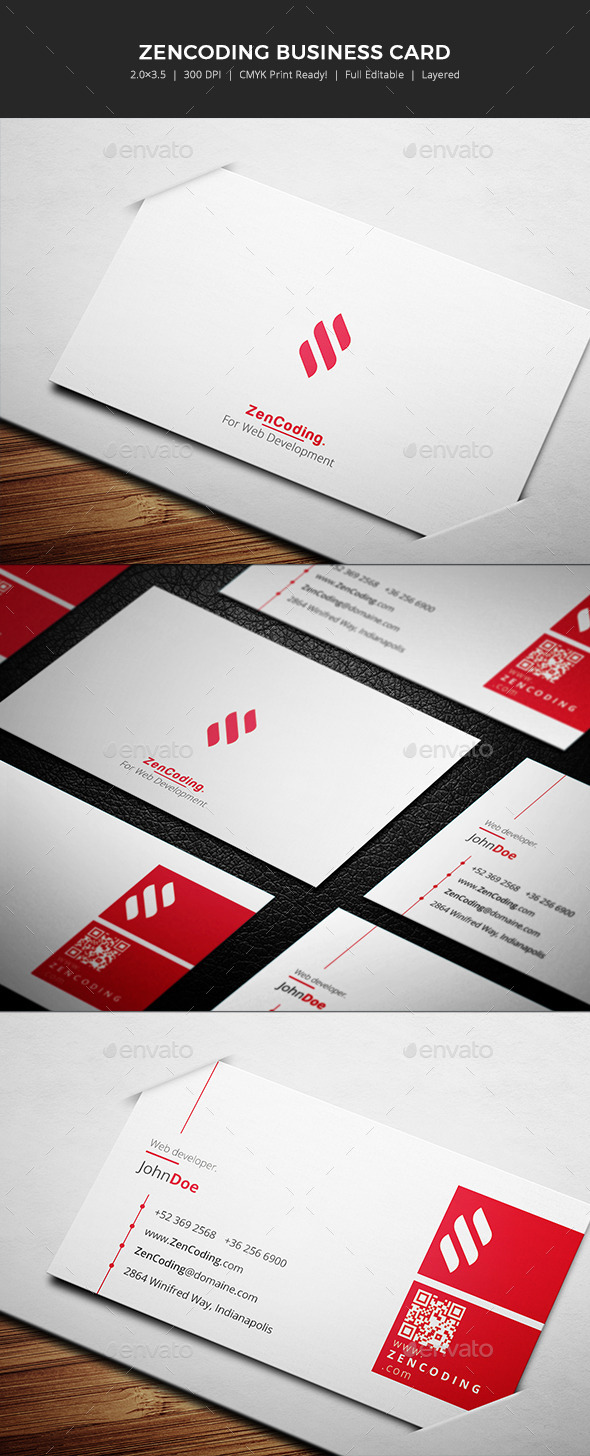 ZenCoding  - Business card - Corporate Business Cards