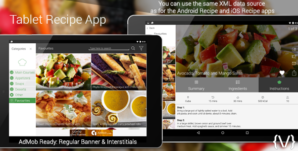 Tablet recipe app by dmbteam codecanyon tablet recipe app codecanyon item for sale forumfinder Image collections