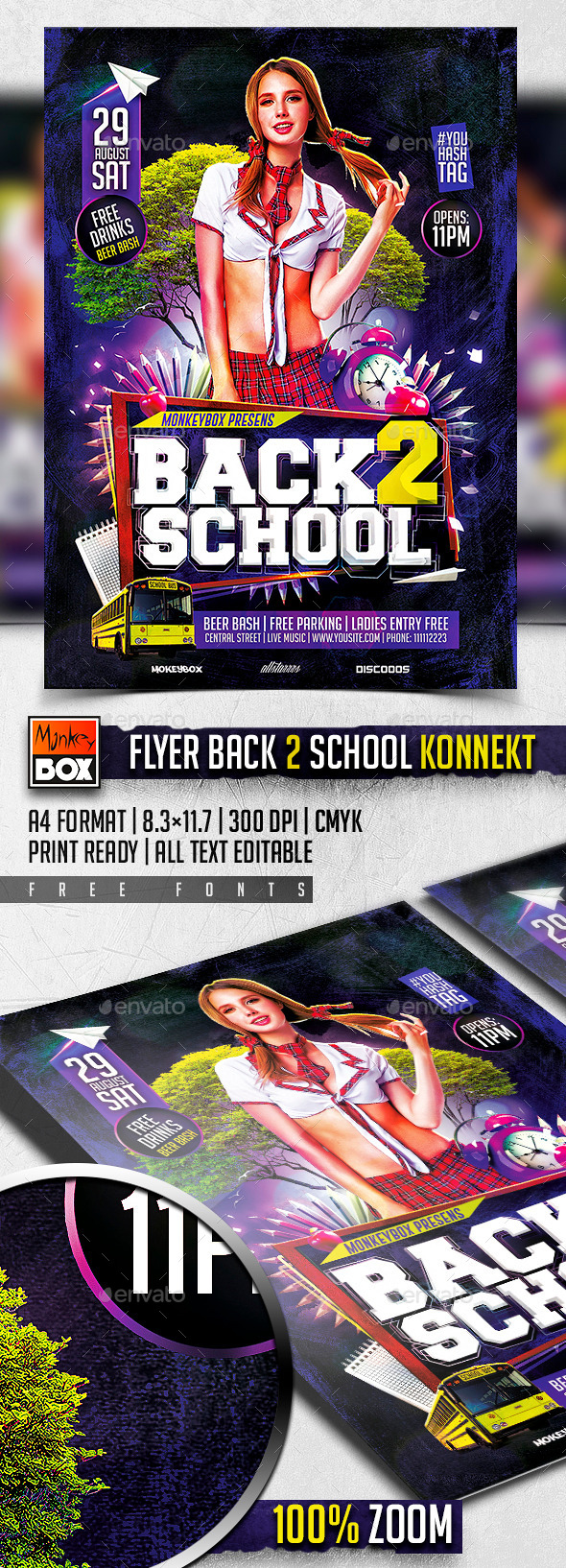 Flyer Back 2 School Konnekt - Flyers Print Templates