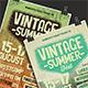 Vintage Summer Fest Poster/Flyer - GraphicRiver Item for Sale