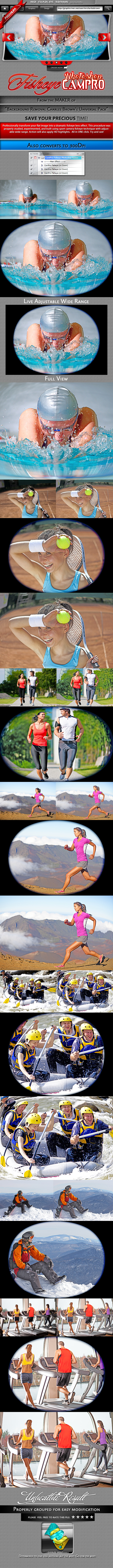 CamPro Fisheye Photoshop Action - Photo Effects Actions