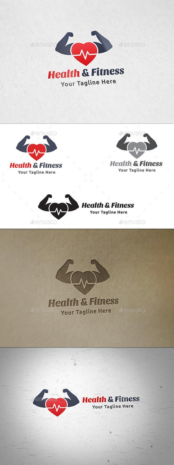 Health & Fitness - Logo Template - Symbols Logo Templates