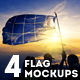 4 Photorealistic Flag Mockups - GraphicRiver Item for Sale