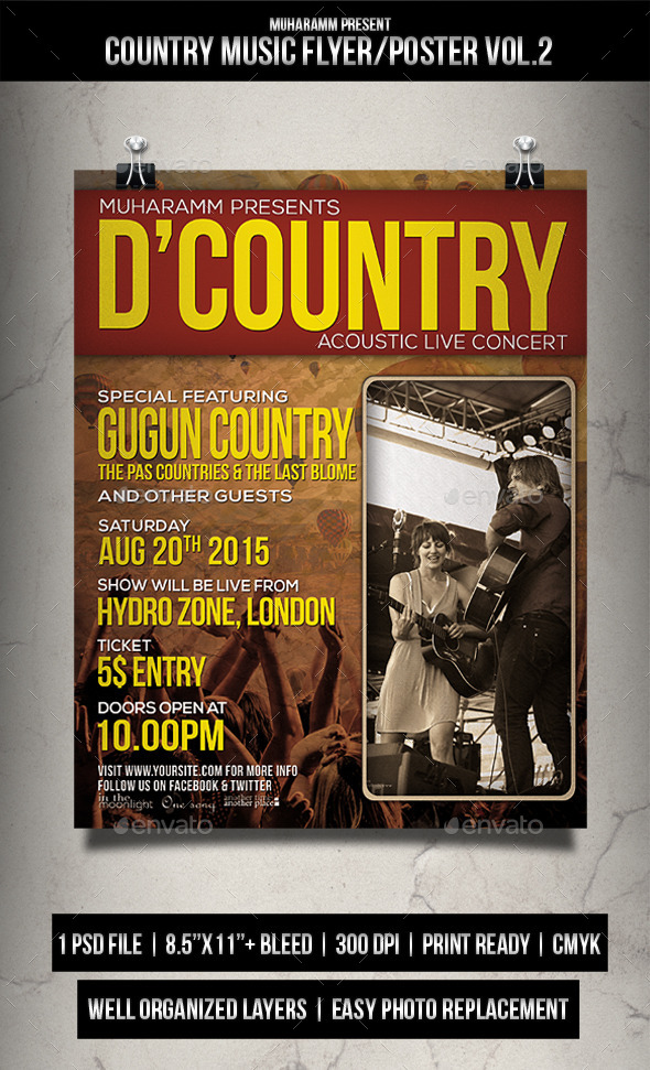 Country Music Flyer / Poster Vol.2 - Events Flyers