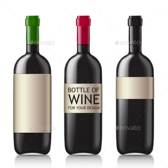 Patterns of Black Empty Wine Bottles