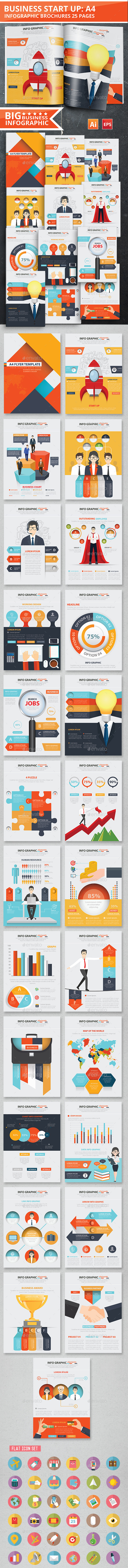 Business Start Up Infographic Design 25 Pages - Infographics