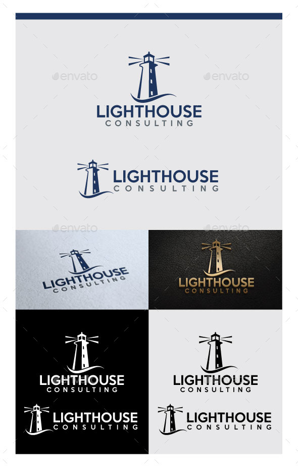 Lighthouse Logo Design - Abstract Logo Templates