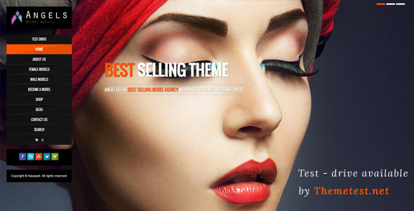 Angel - Fashion Model Agency WordPress CMS Theme - Fashion Retail