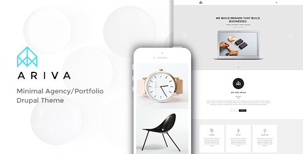 Ariva – Minimal Drupal Theme with Builder