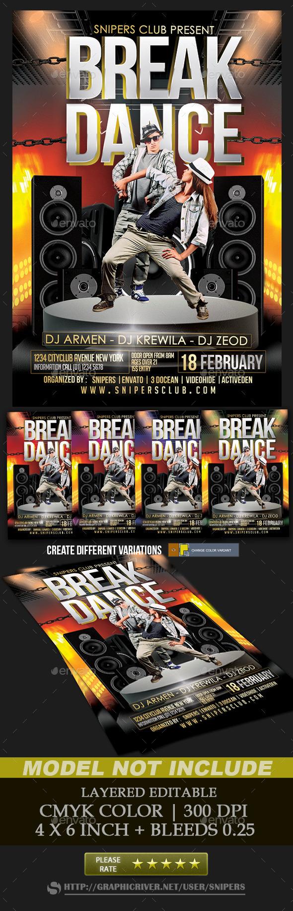 Break Dance - Events Flyers