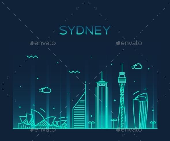 Sydney Skyline - Landscapes Nature