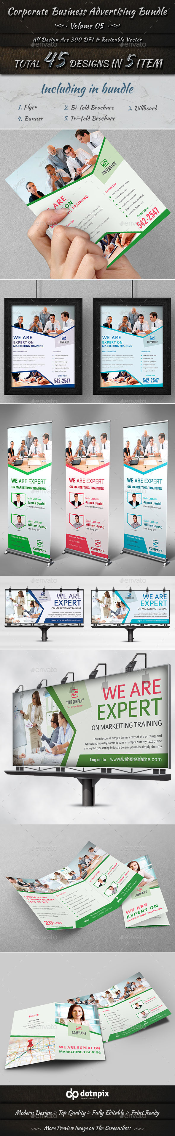 Corporate Business Advertising Bundle | Volume 5 - Corporate Flyers