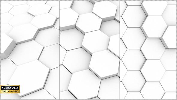 Clean White Hexagons