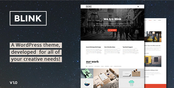 Blink – Parallax One Page WordPress Theme