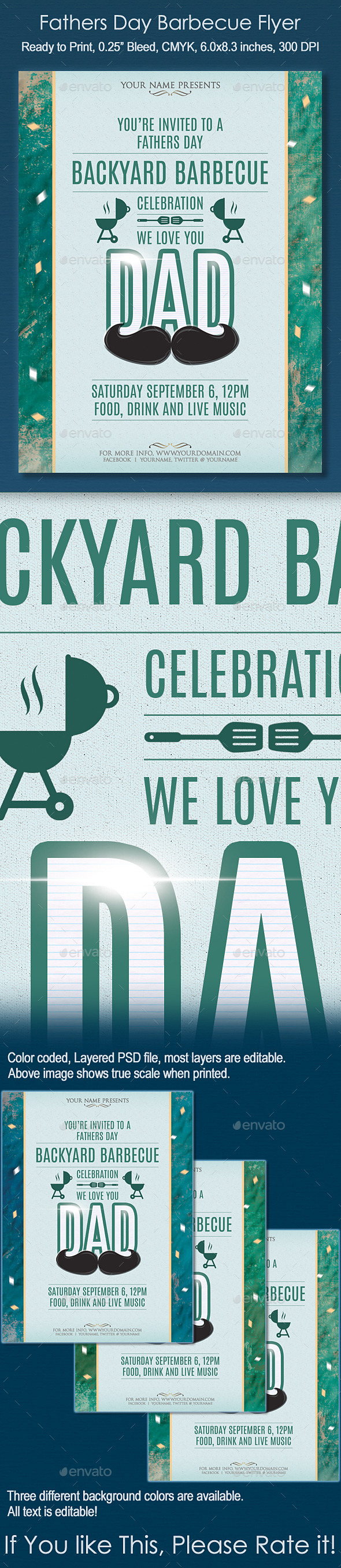 Fathers Day Barbecue Flyer - Events Flyers