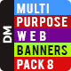 Multipurpose Web Banners Pack 8 - GraphicRiver Item for Sale