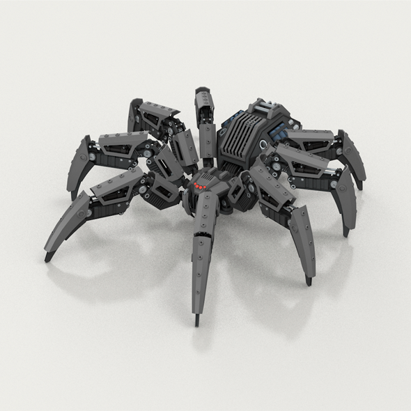 Robot spider - 3DOcean Item for Sale
