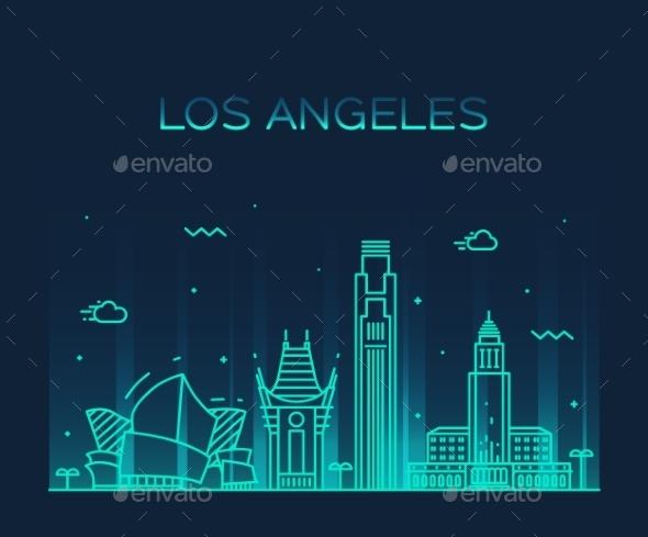 Los Angeles Skyline - Buildings Objects