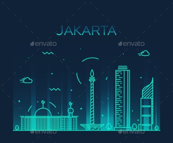 Jakarta Skyline - Landscapes Nature