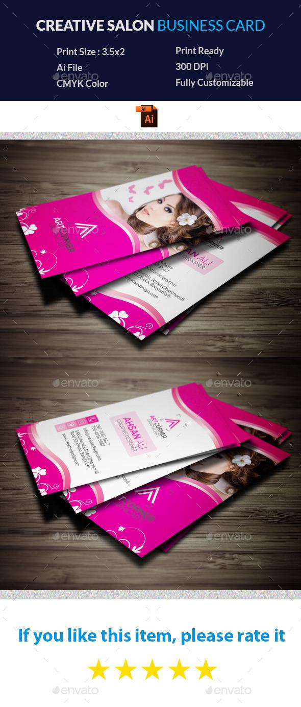 Creative Salon Business Card