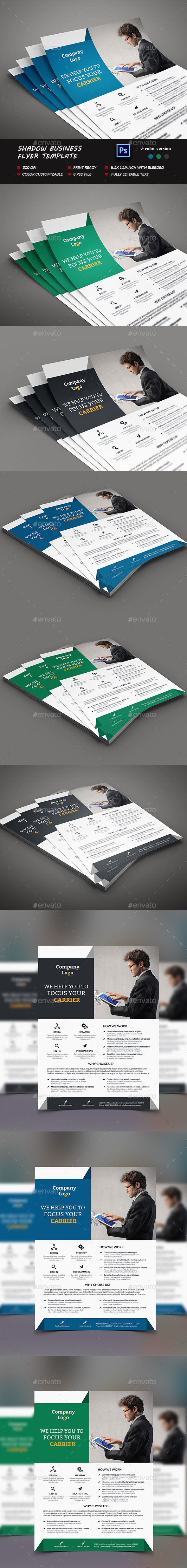 Shadow Business Flyer Template - Corporate Flyers