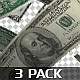 Banknotes Falling - 3 Pack - VideoHive Item for Sale
