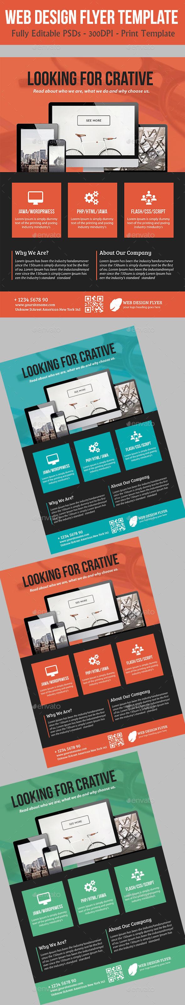 Web Design Flyer Temp - Commerce Flyers
