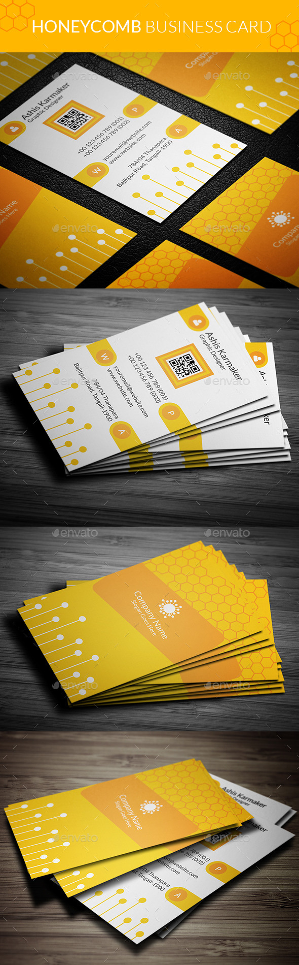 Honeycomb Business Card - Creative Business Cards