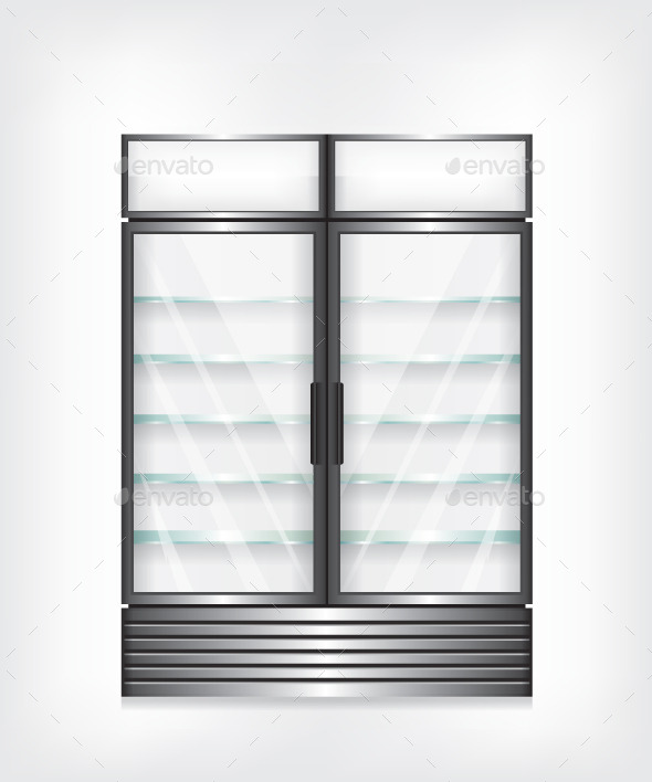 Commercial Refrigerator With Two Door  - Technology Conceptual