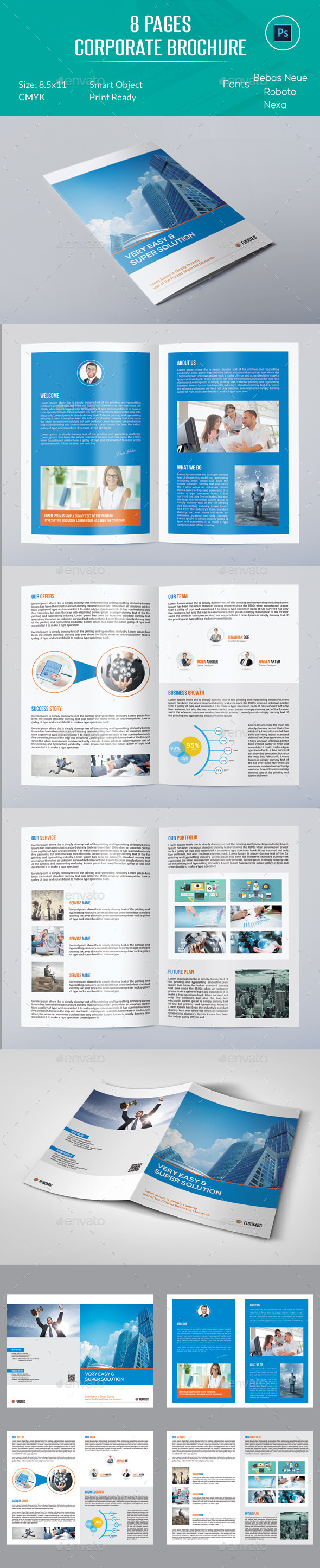 8 Pages Corporate Brochure - Corporate Brochures