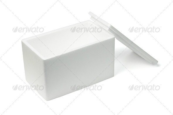 Open Styrofoam storage box - Stock Photo - Images