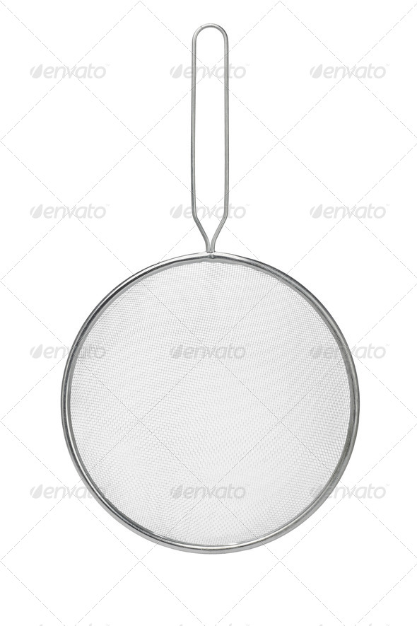 Stainless steel colander - Stock Photo - Images