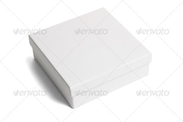 White paper gift box - Stock Photo - Images