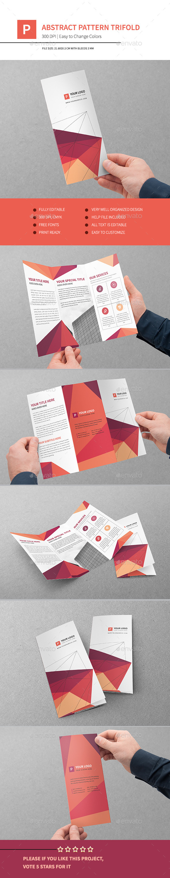 Abstract Pattern Trifold - Corporate Brochures