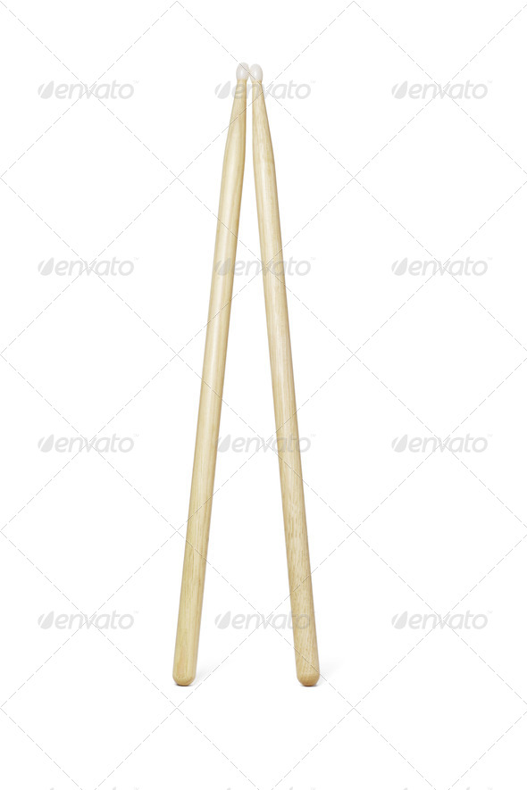 Wooden drumsticks - Stock Photo - Images