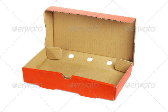 Takeaway pizza box - Stock Photo - Images