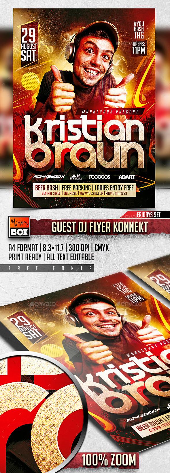 Guest Dj Flyer Konnekt - Clubs & Parties Events