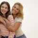Two Laughing Girls Hugging - VideoHive Item for Sale