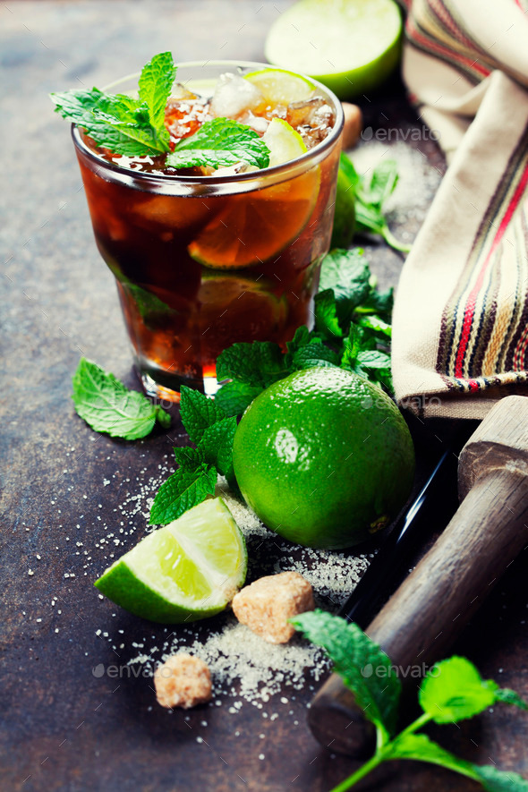 Fresh mojito drink - Stock Photo - Images