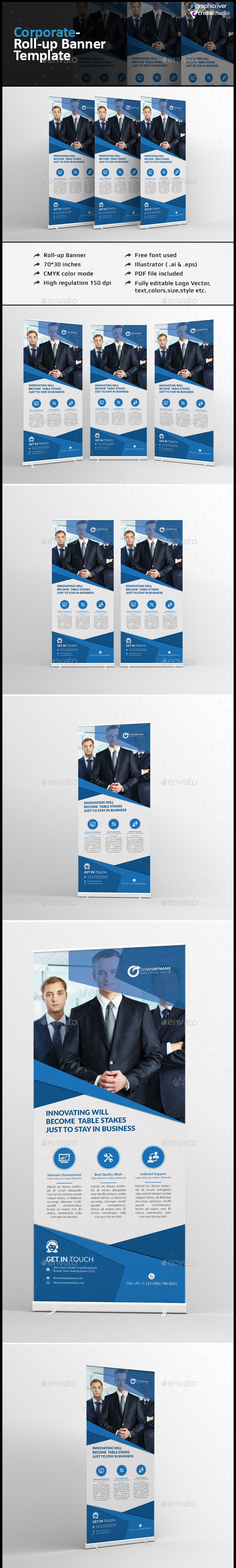 Roll Up Banner Template - Signage Print Templates